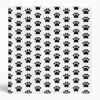 Cute Paw Print Pattern 3 Ring Binder