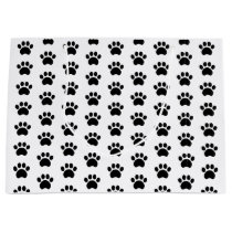 Cute Paw Print Pattern Gift Bag