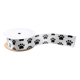Cute Paw Print Pattern Gift Wrapping Ribbon