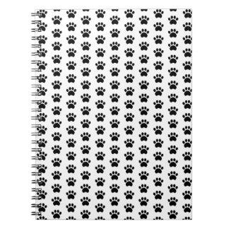 Cute Paw Print Pattern Notebook