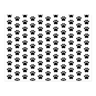 Cute Paw Print Pattern Postcard