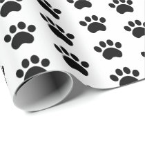 Cute Paw Print Pattern Wrapping Paper