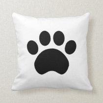 Cute Paw Print Throw Pillow