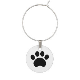 Cute Paw Print Wine Charm