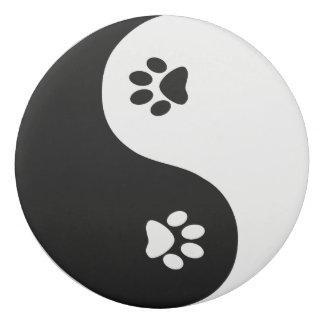 Cute Paw Yin Yang  Round Eraser