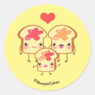 Cute PB & J Sandwich Family Sticker