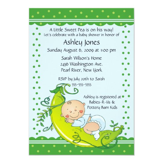 Pea In The Pod Baby Shower Invitations is amazing invitations template