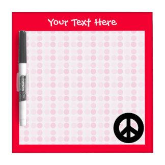 Cute Peace Sign Dry Erase Board