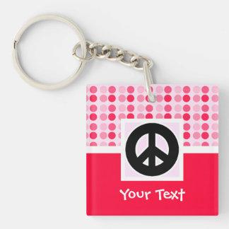 Cute Peace Sign Keychain