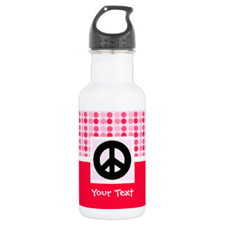 Cute Peace Sign Stainless Steel Water Bottle