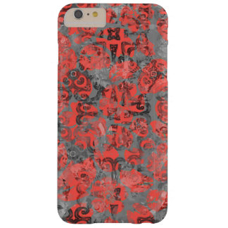 Cute Peach and Gray Splotch Abstract Colorful Barely There iPhone 6 Plus Case