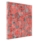 Cute Peach and Gray Splotch Abstract Colorful Canvas Print