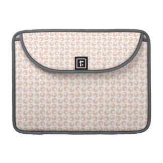 Cute Peach and White Retro Circles Pattern Sleeve For MacBook Pro