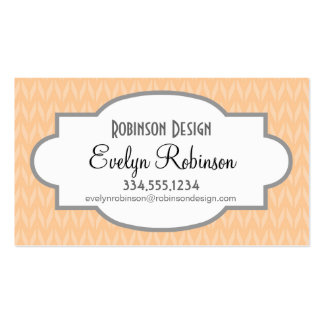 Cute Peach Chevron Pattern Double-Sided Standard Business Cards (Pack Of 100)