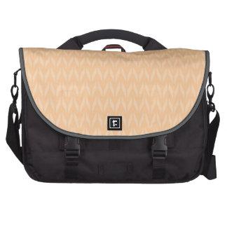 Cute Peach Chevron Pattern Commuter Bags