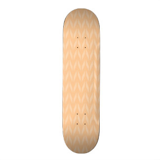 Cute Peach Chevron Pattern Skateboard Deck
