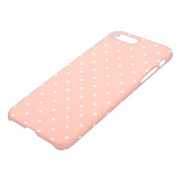 Beach Themed Cute Peach White Small Polka Dots Pattern Girly iPhone 8 Plus/7 Plus Case