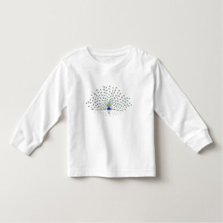 Cute Peacock Bird Painting Shirts for Kids