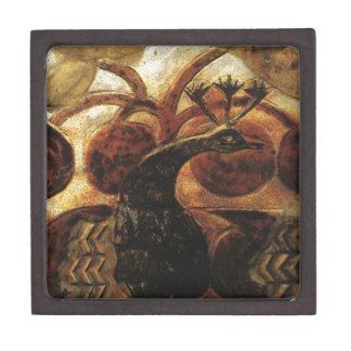 Cute Peacocks - Animal Painting Keepsake Box