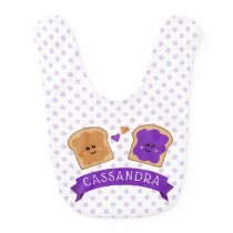 Cute Peanut Butter and Jelly Baby Bib