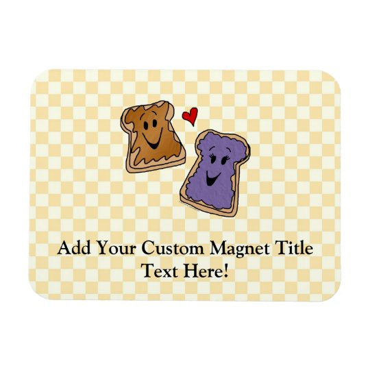 Cute Peanut Butter and Jelly Best Friends Magnet