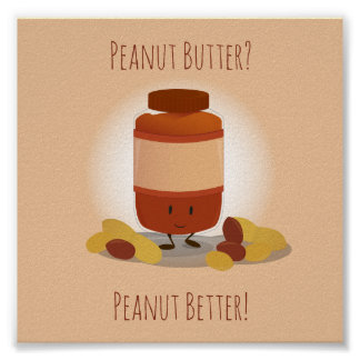Cute Peanut Butter Jar | Poster