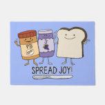 Cute Peanut Butter & Jelly & Bread Spread Joy Doormat