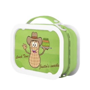 USA Themed Cute Peanut Man & Peanut Butter Lunch Box