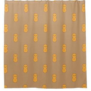 Cute Peanut Pattern Shower Curtain