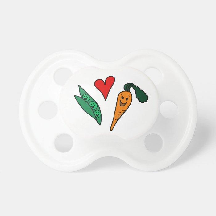Cartoon peas and carrots