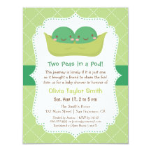 Two peas in a pod invitations announcements zazzle filmwisefo Image collections