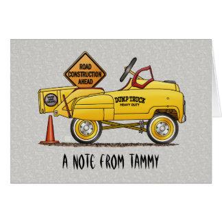 Cute Peddle Truck Peddle Car Card