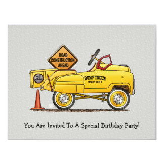 Cute Peddle Truck Peddle Car Card