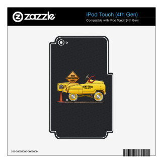 Cute Peddle Truck Peddle Car iPod Touch 4G Decal