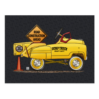 Cute Peddle Truck Peddle Car Postcard