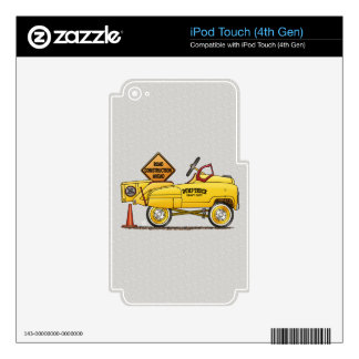 Cute Peddle Truck Peddle Car Skin For iPod Touch 4G