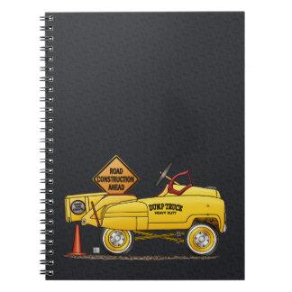 Cute Peddle Truck Peddle Car Spiral Notebook