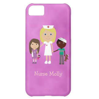 Cute Pediatric Nurse Children Purple iPhone 5C Case