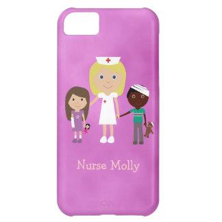 Cute Pediatric Nurse & Children Purple iPhone 5C Case