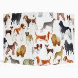 Cute Pedigree Pet Dog Wallpaper Design 3 Ring Binders