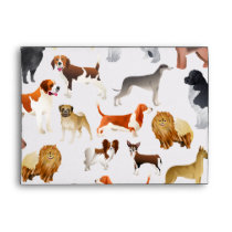 Cute Pedigree Pet Dog Wallpaper Design Envelope