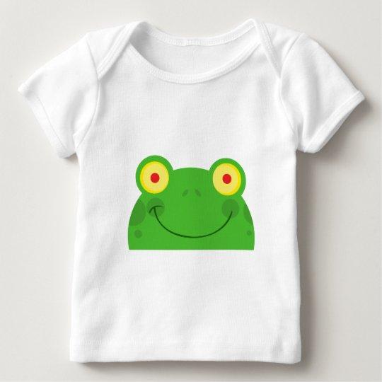 cute peeking cartoon frog froggy face baby T-Shirt