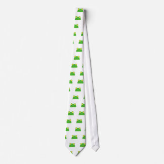 cute peeking cartoon frog froggy face tie