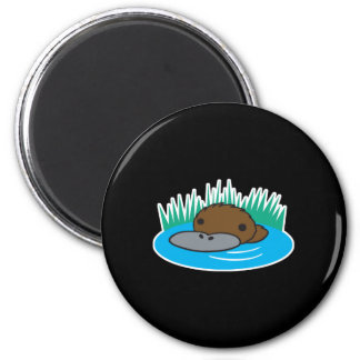 cute peeking platypus magnet