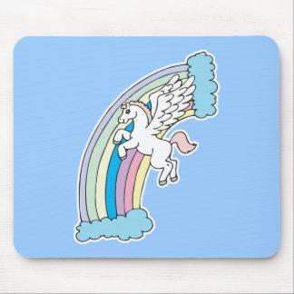 cute pegasus and rainbow design mouse pad