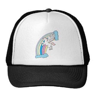 cute pegasus and rainbow design trucker hat