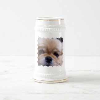 Cute Pekingese Puppy  Beer Stein Mugs