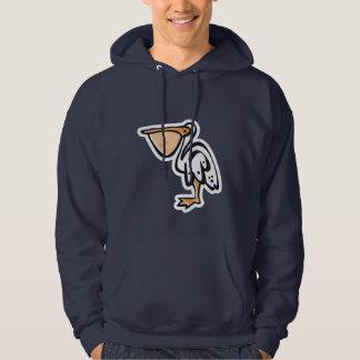 Cute Pelican; Blue Hoodie