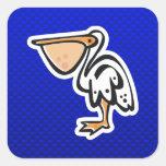 Cute Pelican; Blue Stickers