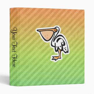 Cute Pelican; Colorful Binder